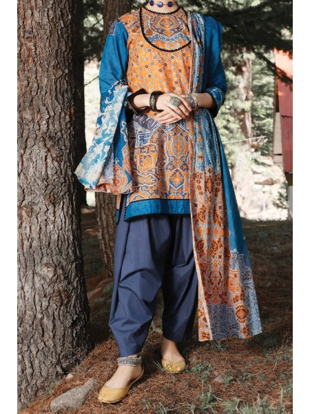 Almirah Unstitched Collection AWP-3PS-251 V-4 2019
