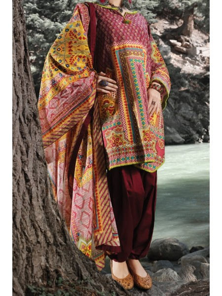 Almirah Unstitched Collection AWP-3PS-253 V-4 2019