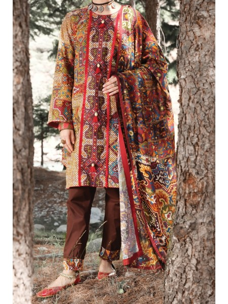 Almirah Unstitched Collection AWP-3PS-256 V-4 2019