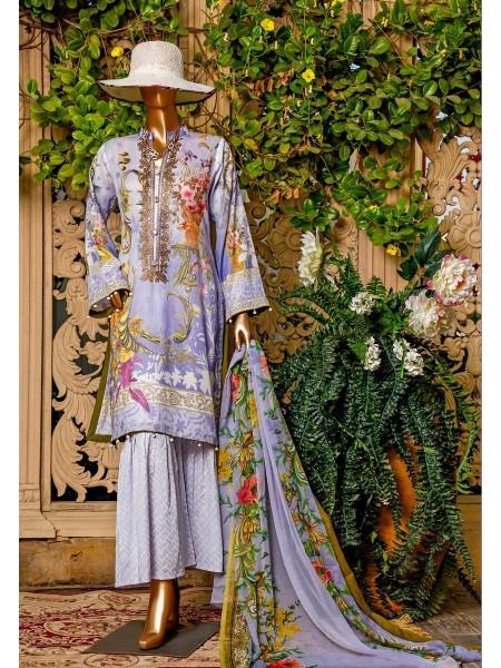 Amna Khadija Signature Lawn Collection AKSLC20 V-01 D-07