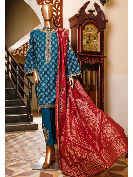 Bin Saeed 3 Piece Cotton Jacquard Collection BSCJC'20 D-01