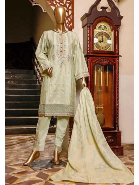 Bin Saeed 3 Piece Cotton Jacquard Collection BSCJC'20 D-02