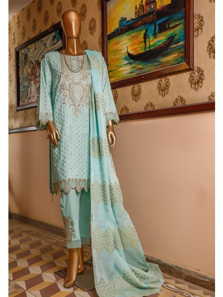 Bin Saeed 3 Piece Cotton Jacquard Collection BSCJC'20 D-04