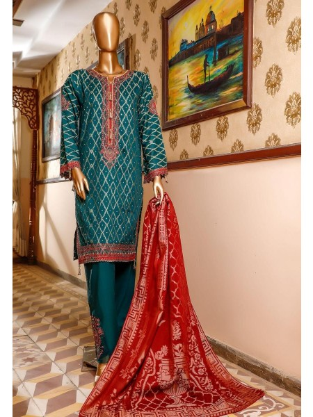 Bin Saeed 3 Piece Cotton Jacquard Collection BSCJC'20 D-06