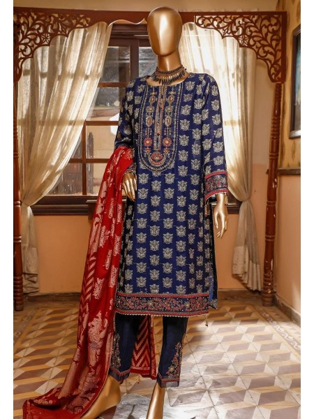 Bin Saeed 3 Piece Cotton Jacquard Collection BSCJC'20 D-08