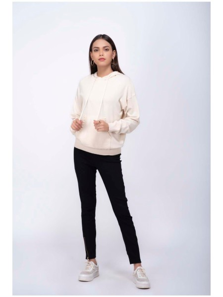 Bonanza Luxury Sweater Beige-Full Sleeves-Hoodie 19S-015-61-BEIGE