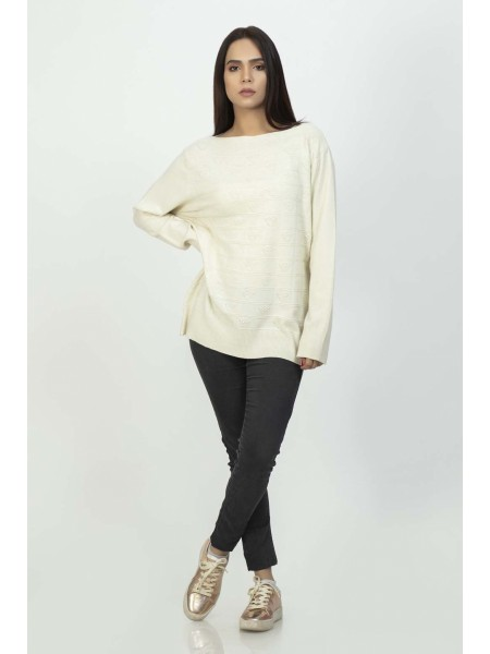 Bonanza Luxury Sweater Beige-Full Sleeves-Pull Over 19S-106-61-BEIGE