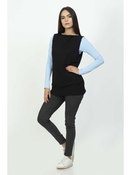 Bonanza Luxury Sweater Black-Sando-Pull Over 19S-107-61-BLACK