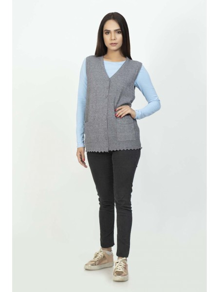 Bonanza Luxury Sweater D-Gray-Sando-Cardigan 19S-111-61-D-GRAY