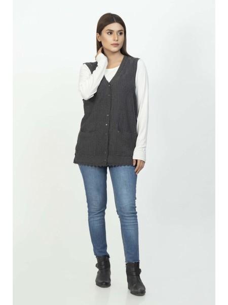 Bonanza Luxury Sweater D-Gray-Sando-Cardigan 19S-115-61-D-GRAY