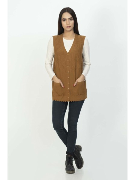 Bonanza Luxury Sweater Golden-Sando-Cardigan 19S-115-61-GOLDEN