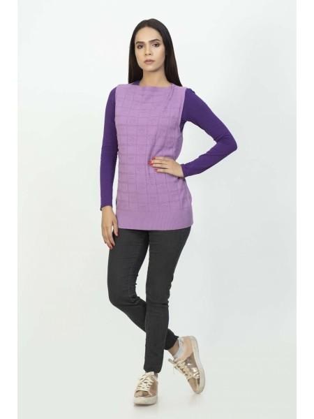 Bonanza Luxury Sweater Purple-Sando-Pull Over 19S-107-61-PURPLE