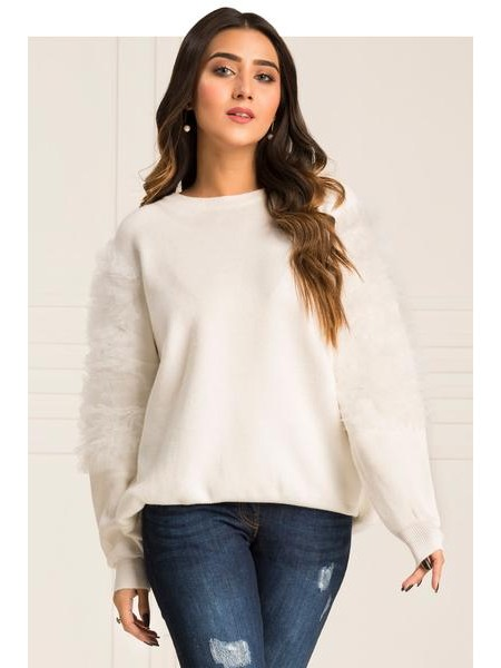 By The Way Sweater Autumn Bloom WRW0384-REG-WHT