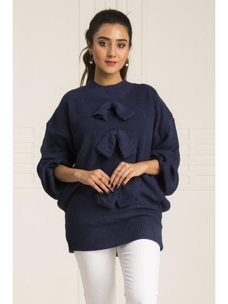 By The Way Sweater Clematis Mink WRW0395-REG-BLU