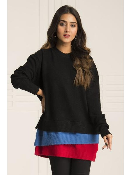 By The Way Sweater Deep Mystery WRW0423-REG-BLK