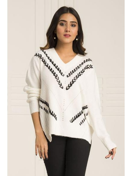 By The Way Sweater Frost Bite WRW0402-REG-WHT