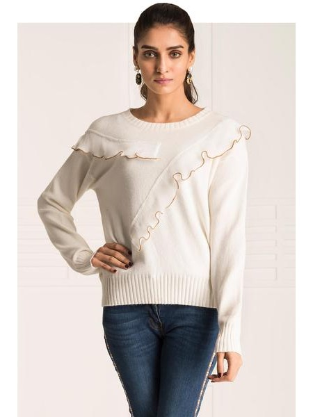 By The Way Sweater Kemp Kelly WRW0363-REG-WHT