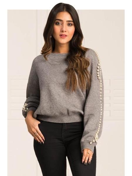 By The Way Sweater Smoky Glass WRW0371-REG-GRY