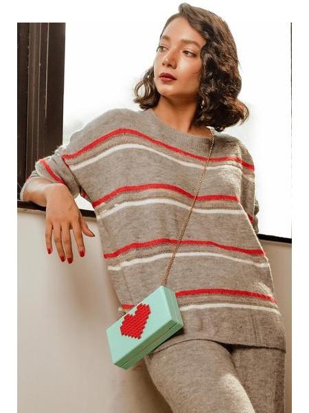 By The Way Sweater Sochic WRW0404-REG-GRY