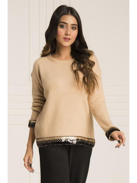 By The Way Sweater Warm Light WRW0401-REG-BGE