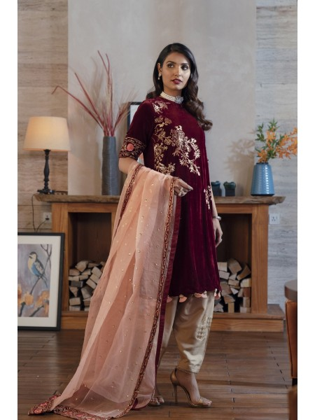 Ethnic by Outfitters Boutique Suits Shirt + Dupatta WTB491787-10233049-K-06