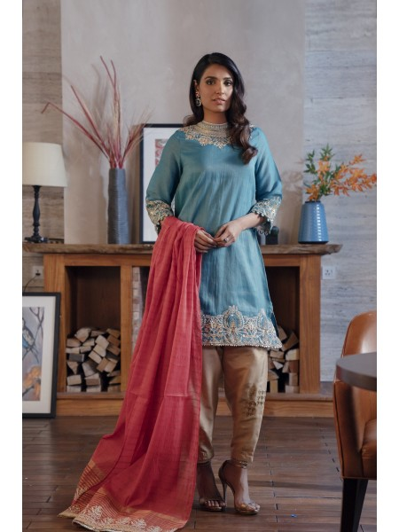 Ethnic by Outfitters Boutique Suits Shirt + Dupatta WTB491792-10232506-L-19