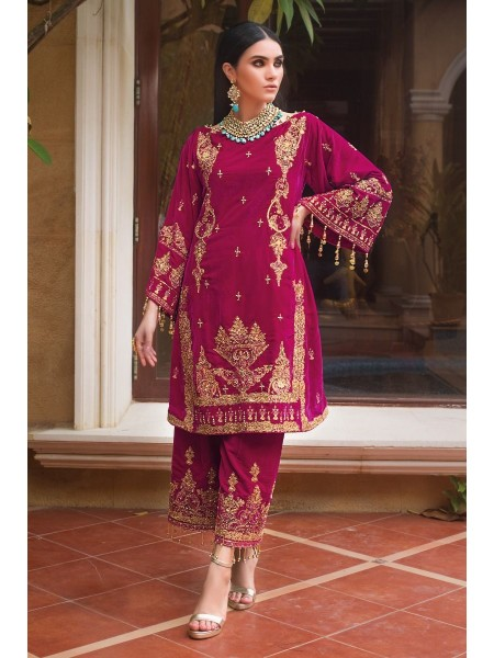 Gul Ahmed 2PC Hand Embroidered Velvet Suit VLT-08 W-FB-NSM-19-226127