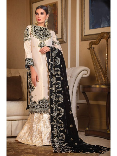 Gul Ahmed 3PC Hand Embroidered Velvet Suit VLW-15 W-FB-NSM-19-226134