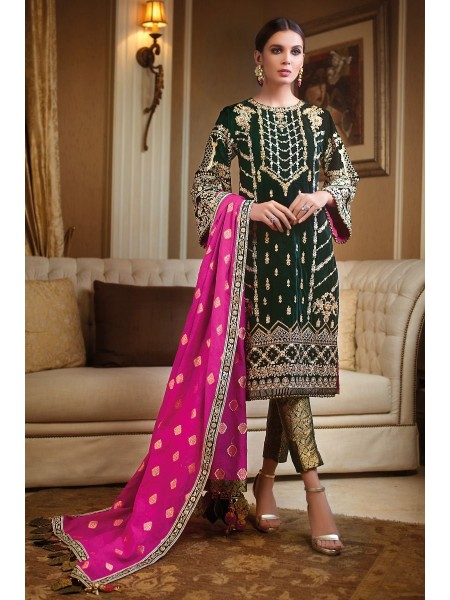 Gul Ahmed 3PC Hand Embroidered Velvet Suit VLW-16 W-FB-NSM-19-226125