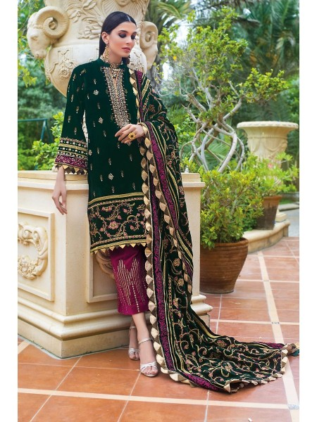 Gul Ahmed 3PC Hand Embroidered Velvet Suit VLW-17 W-FB-NSM-19-226130