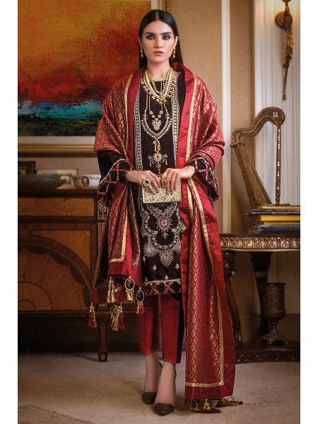 Gul Ahmed 3PC Hand Embroidered Velvet Suit VLW-20 W-FB-NSM-19-226131