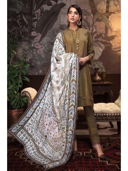 Gul Ahmed 3PC Hand Embroidered Velvet Suit VSH-04 W-FB-NSM-19-226143