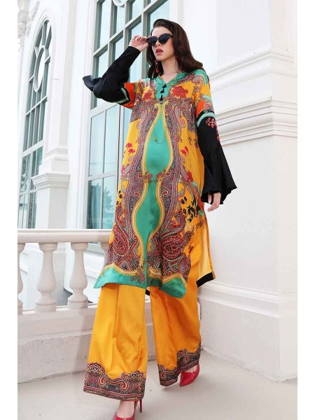 Gul Ahmed Lamis Silk Collection 2PC Digital Printed Silk Suit DGT-86 W-FB-LMS-19-226119