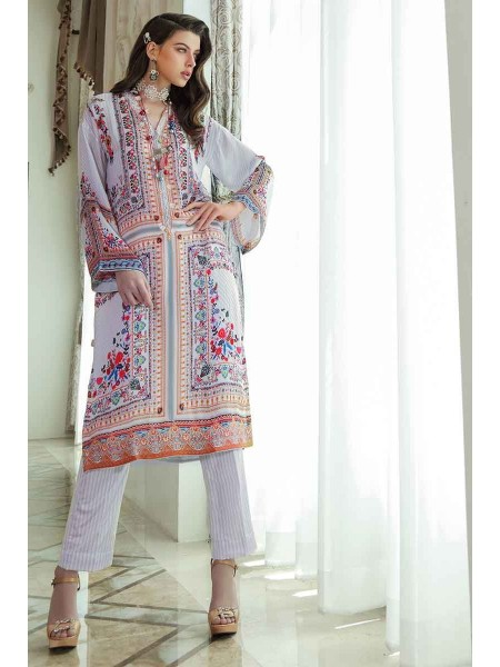 Gul Ahmed Lamis Silk Collection 2PC Embroidered Silk Suit DGT-88 W-FB-LMS-19-226121