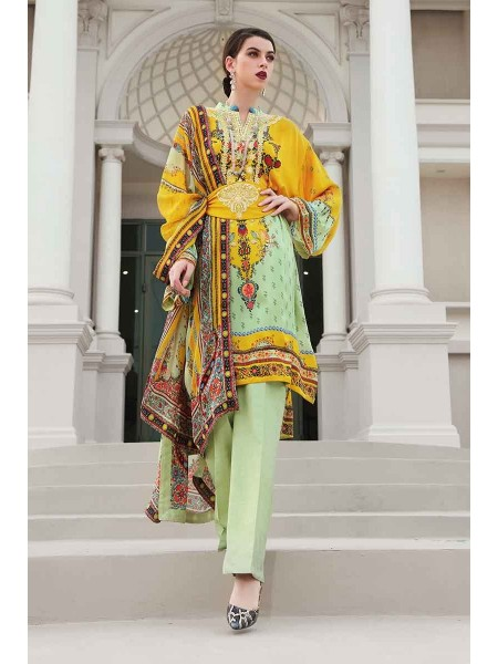 Gul Ahmed Lamis Silk Collection 3PC Embroidered Silk Suit DGS-79 W-FB-LMS-19-226106