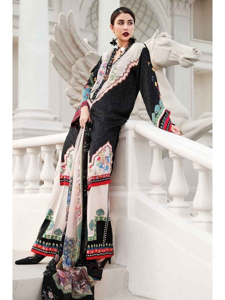 Gul Ahmed Lamis Silk Collection 3PC Embroidered Silk Suit DGS-86 W-FB-LMS-19-226113