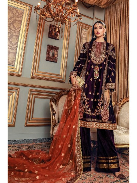 Gul Ahmed Maahru Collection 3 PC Embroidered Suit PRW-05