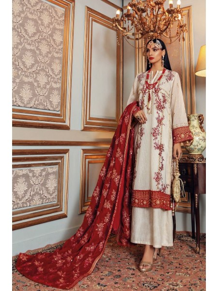 Gul Ahmed Maahru Collection 3 PC Hand Embroidered Suit PRW-02