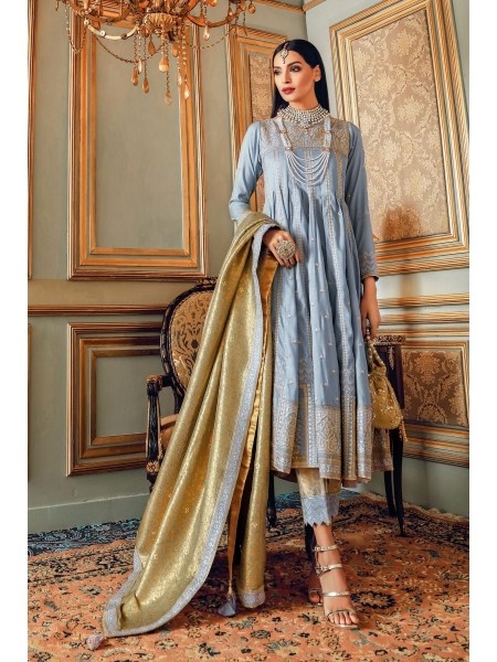 Gul Ahmed Maahru Collection 3 PC Hand Embroidered Suit PRW-04