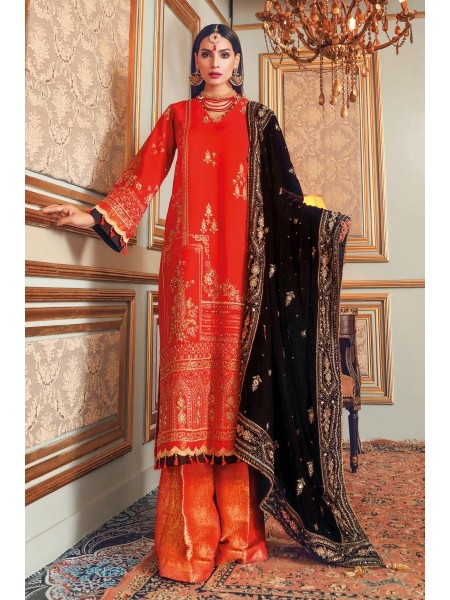 Gul Ahmed Maahru Collection 3 PC Hand Embroidered Suit PRW-06