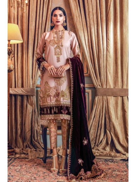 Gul Ahmed Maahru Collection 3 PC Hand Embroidered Suit PRW-07