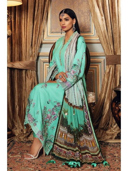 Gul Ahmed Maahru Collection 3 PC Hand Embroidered Suit PRW-08