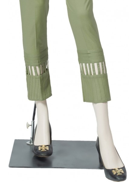Saya Unstitched Trousers CT-GD-39 OLIVE GREEN