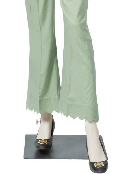 Saya Unstitched Trousers UM-194-4A LIGHT GREEN
