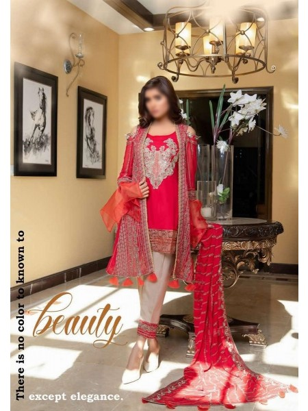 SOGHAT Dhani Luxury Chiffon Embroidered Collection DLCEC20 D-04
