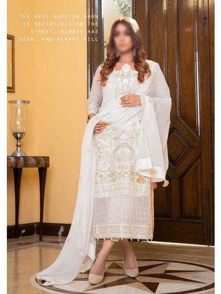 SOGHAT Dhani Luxury Chiffon Embroidered Collection DLCEC20 D-05