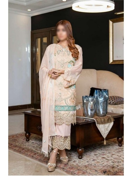 SOGHAT Dhani Luxury Chiffon Embroidered Collection DLCEC20 D-08