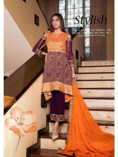 SOGHAT Dhani Luxury Chiffon Embroidered Collection DLCEC20 D-10