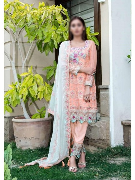 SOGHAT Dhani Luxury Chiffon Embroidered Collection DLCEC20 D-14