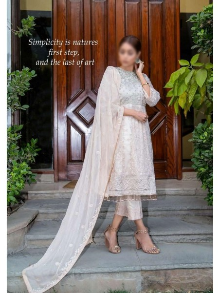 SOGHAT Dhani Luxury Chiffon Embroidered Collection DLCEC20 D-16
